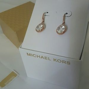 NWT MK  rose gold errings